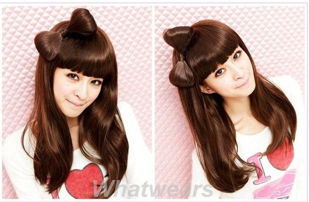 Lady Gaga Fashion Hair Extension Bow Bowknot Comb Clip Hairpiece 6