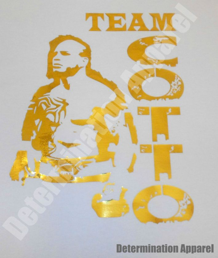 Miguel Cotto T Shirt GOLD WHITE Junito vs Floyd Mayweather Boxing
