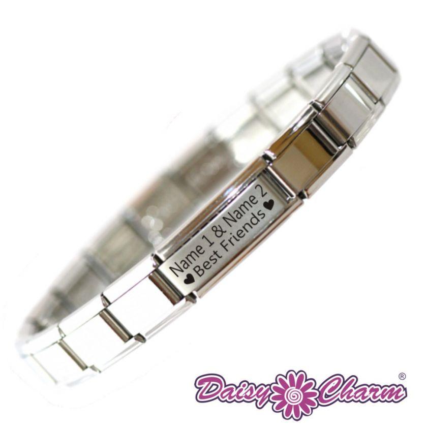 Personalised Custom Made BEST FRIENDS Charm Bracelet