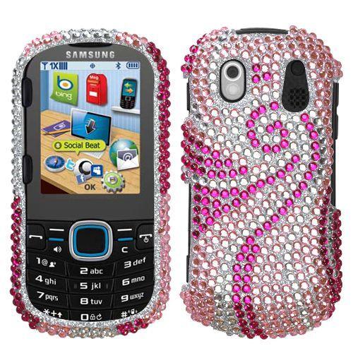 Pink Wave Bling Case Cover for Samsung Intensity 2 u460