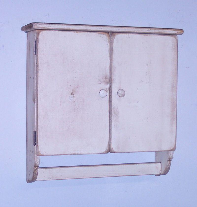 Handmade Primitive Style Bath Cabinet   Color Choice