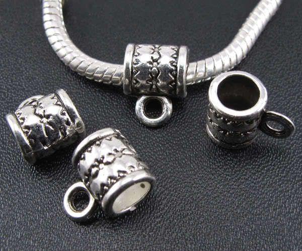 110p Tibetan silver Bails bead for charm bracelet ☆f718