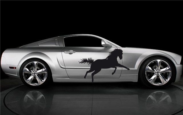 CAR VINYL GRAPHICS HORSE MUSTANG FORD GT SHELBY 23