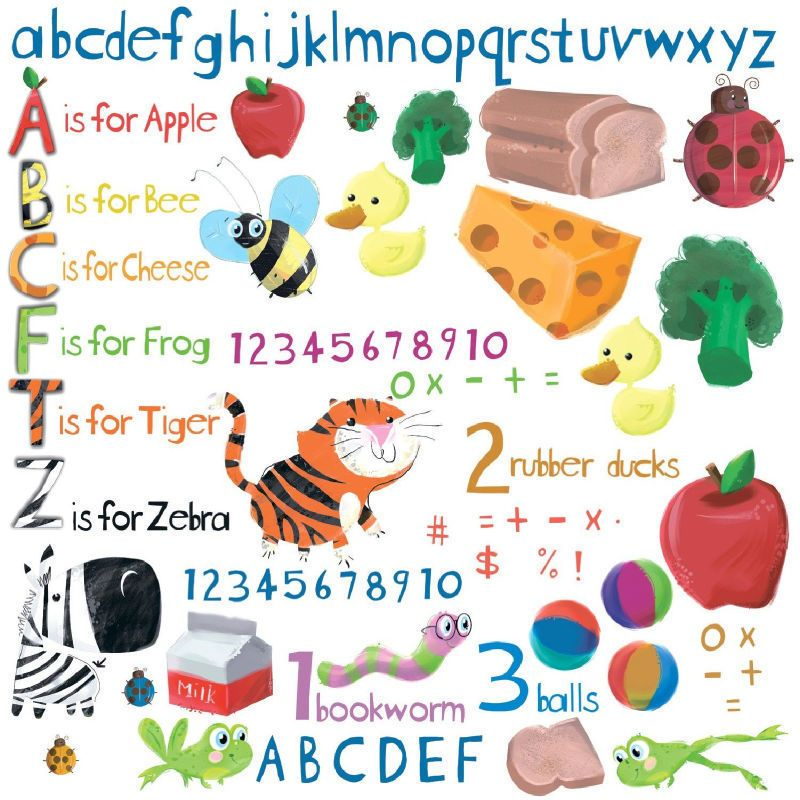 Education Station Kids Room Nursery Wall Sticker Decals