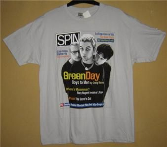 GREEN DAY Spin Magazine Vtg RETRO T Shirt Tee TOP Shirt ROCK XL RARE