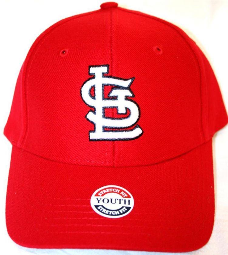 Saint St Louis Cardinals Fitted Youth FlexFit Cap Hat World Series