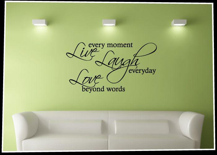 Live Laugh Love   Vinyl Word Art Wall Decal